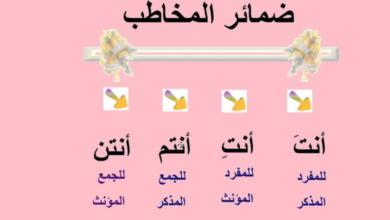 صورة هندسة الضمائر الشخصية في العربية